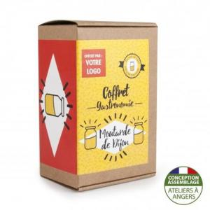 Coffret gastronomie Moutarde de Dijon version kraft