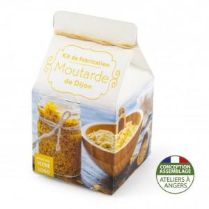Mini-coffret gastronomie Moutarde de Dijon version quadrichromie