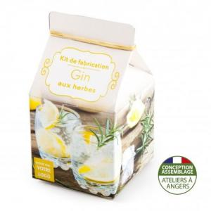 Mini-coffret gastronomie Gin version quadrichromie