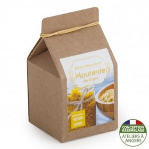 Mini-coffret gastronomie Moutarde de Dijon version kraft